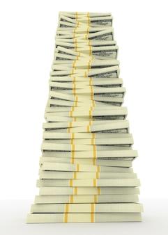 달러 미국에서 큰 돈 스택의 그림. 금융 개념