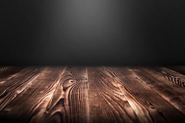 Иллюстрация концертного точечного освещения над темным деревянным полом