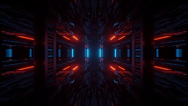 네온 레이저 조명으로 기하학적 모양의 그림-배경 및 배경 화면에 적합