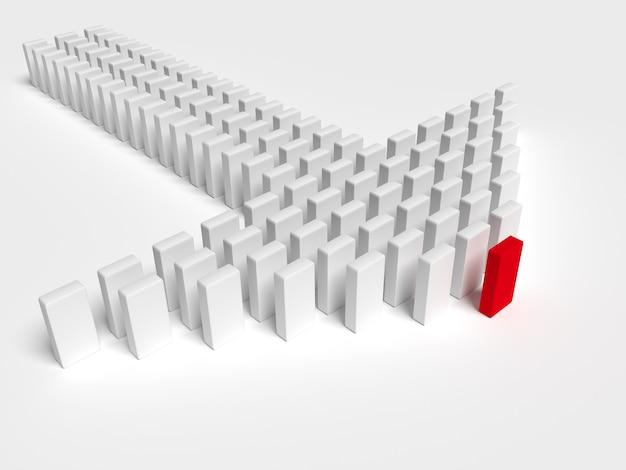 Иллюстрация лидера ведет команду вперед