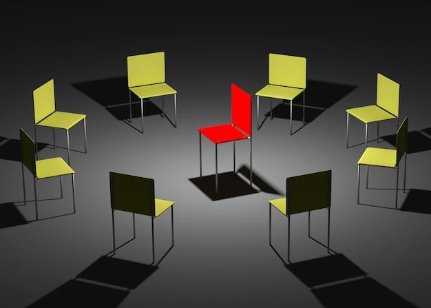 회사 리더십의 삽화