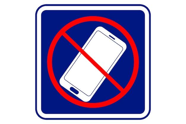 파란색 배경에 휴대전화를 사용하지 않는 그림입니다.