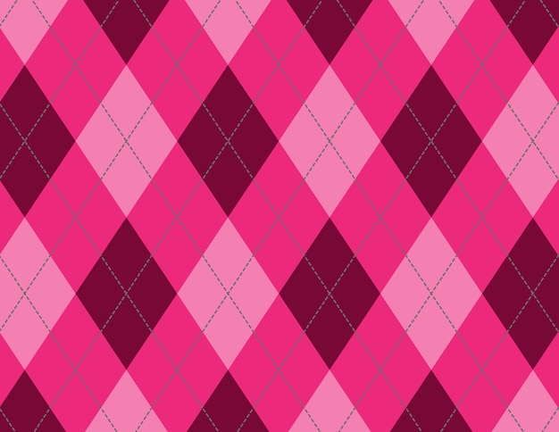 ピンクと赤のダイヤモンドパターンのイラスト