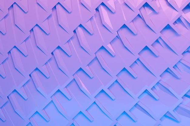 파란색과 보라색 줄무늬 평행 사변형 패턴의 행 그림