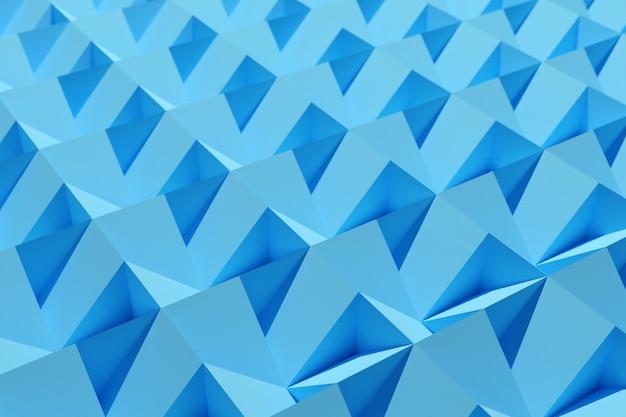Иллюстрация рядов синих полигонов set