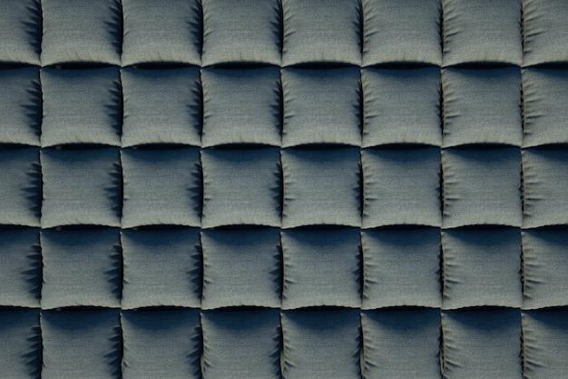 소파 텍스처의 그림입니다. 3d 그래픽, 소파의 질감 보기. 회색 사각형, 소파 덮개. 3d 그래픽, 클로즈업