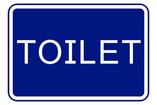青い背景の上のトイレの看板のイラスト