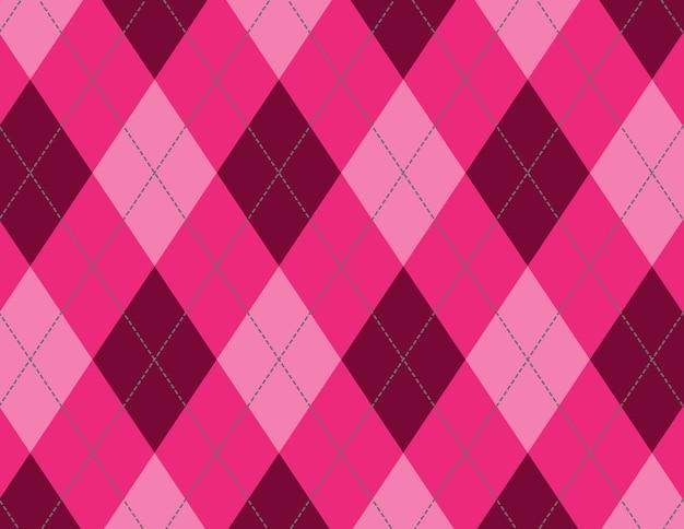 Illustrazione del motivo a rombi rosa e rosso