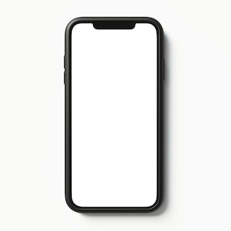 Иллюстрация макет смартфона на изолированном фоне реалистичный 3d телефон