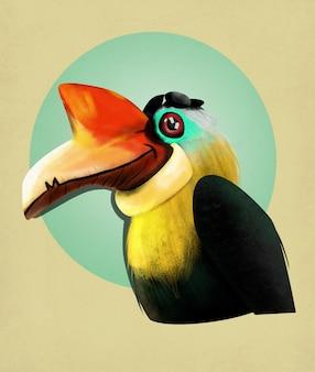 Illustration weird bird