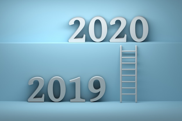 Illustration with 2019 and 2020 numbers