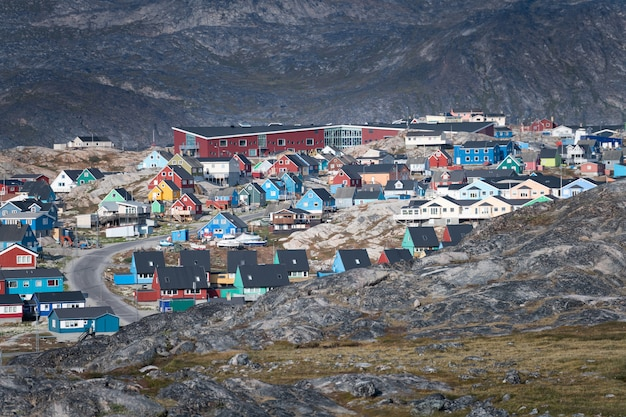 Ilulissat city in greenland