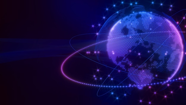 画像通信ネットワーク世界画像ホログラムネットワーク画像コンピュータサイエンス