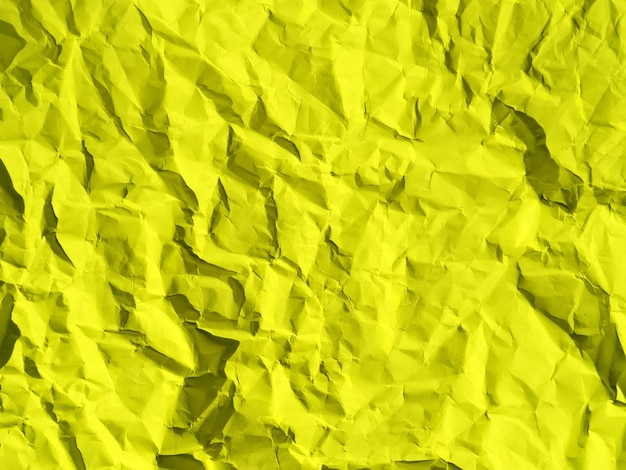 Image of crumpled paper texture that can be used directly or as a yellow background