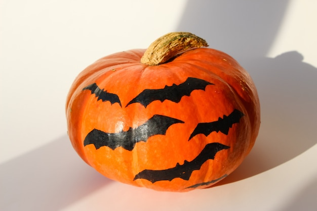 Image of halloween pumpkin isolated on white
