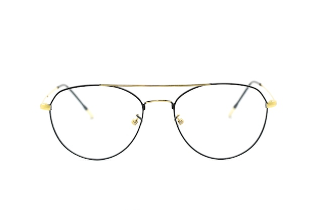 Image of modern fashionable spectacles isolated on white.