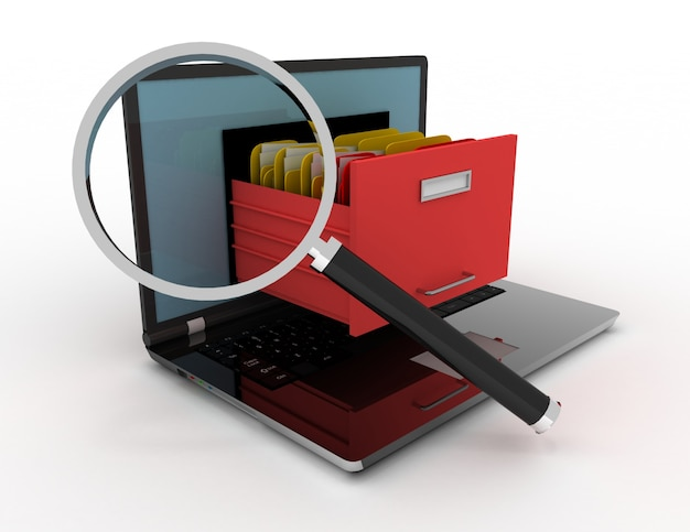 3d 렌더러 그림의 이미지입니다. 노트북 및 파일입니다. 데이터 저장고.