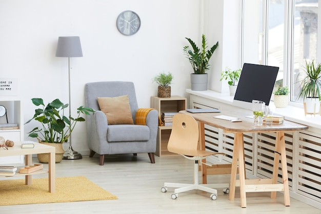 Изображение домашней комнаты с современной мебелью в квартире