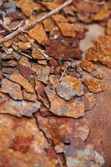 錆びた剥離金属のテクスチャ背景の断片の画像