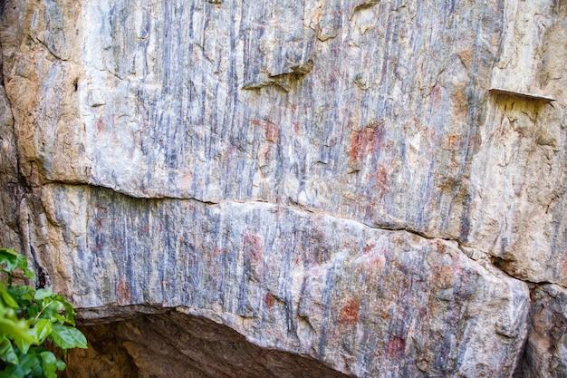 洞窟の壁の画像。歴史画。古代の歴史。エポック。考古学