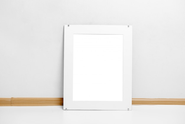 Image of an ornate white frame mockup scene painting