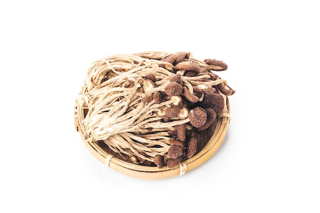 An image showing some dried oriental willow mushrooms,