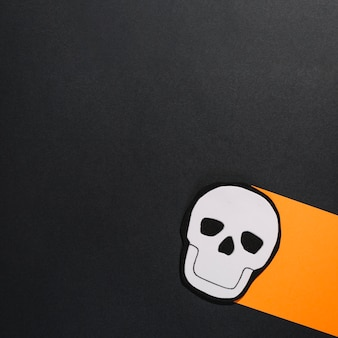 Image of skull on piece of paper