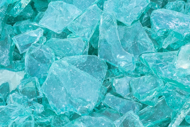 Image of waste glass for recycling in industry