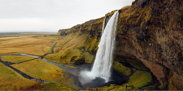 Image with an icelandic waterfall