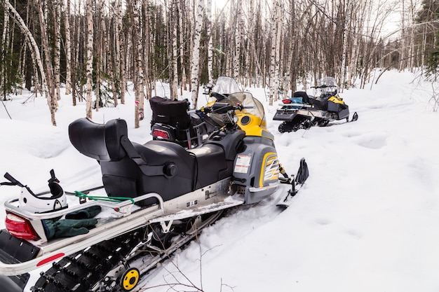 Image with snowmobiles.