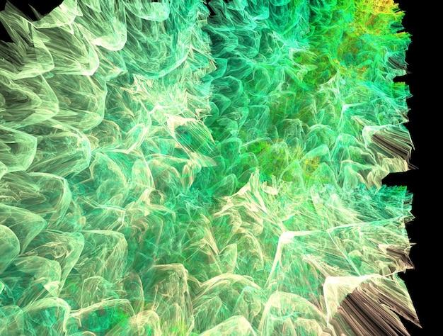 Созданное изображение воображаемого фрактального фона