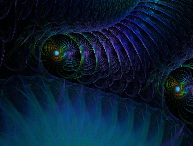 想像上のフラクタル背景生成画像