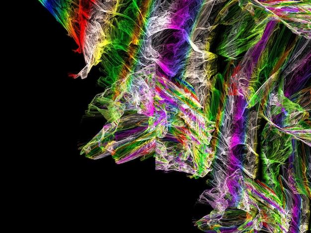 想像上の緑豊かなフラクタル抽象的な背景