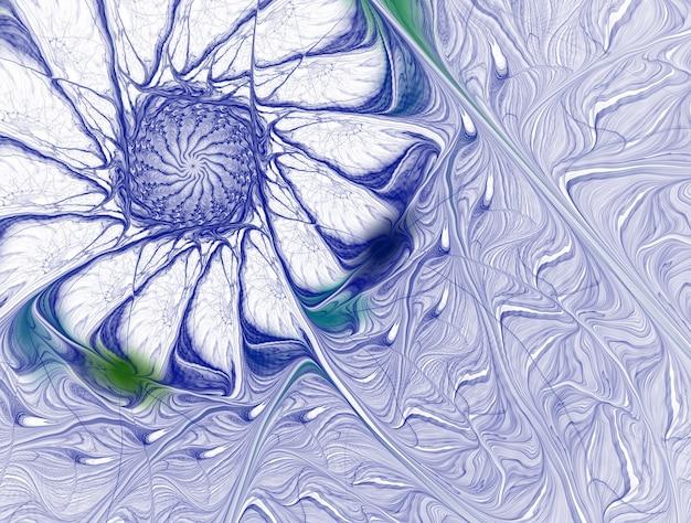 Воображающая пышная фрактальная текстура сгенерирована изображением абстрактного фона
