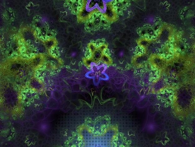 Воображающая пышная фрактальная текстура генерирует изображение абстрактного фона