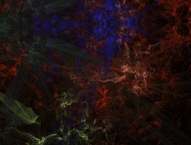 想像上の青々としたフラクタルテクスチャ生成画像抽象的な背景