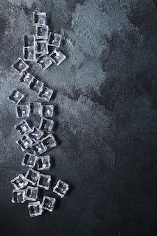 모조 인공 얼음 조각 플라스틱 조각 투명 아크릴 정말 차갑지 않습니다