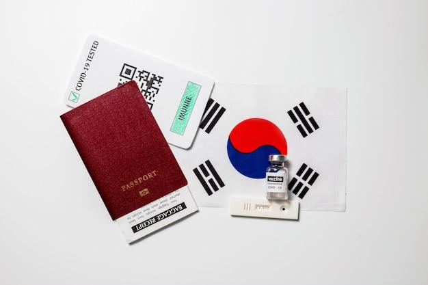 Паспорт невосприимчивости к поездкам во время изоляции вакцинация в южной корее