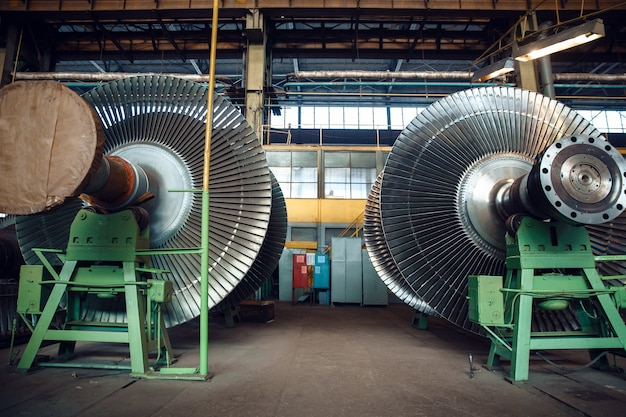 Impellers with vanes on turbine factory
