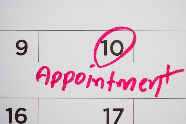 Важный график встреч записать в календаре