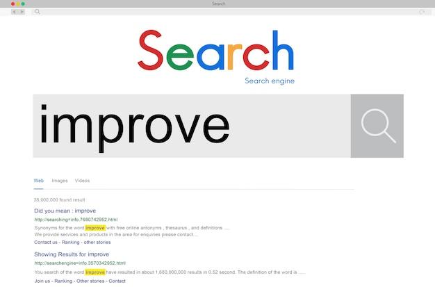 Improve growth improvement innovation update concept