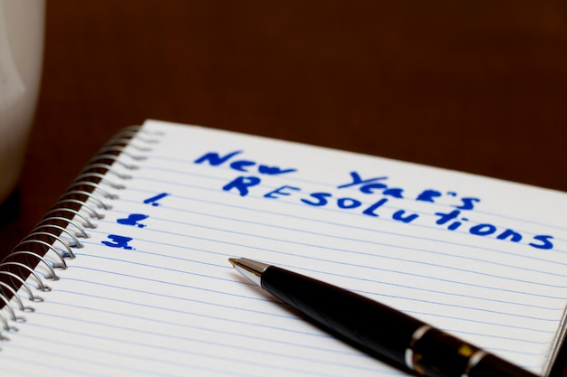 Improvement list of new year resolution conceptual