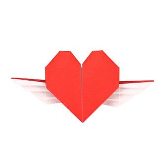 Impulsive folded heart day shape