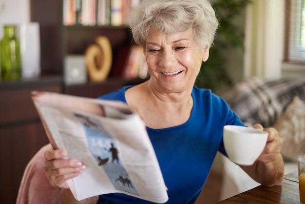 私の好きな新聞で私はいつも何か面白いものを見つけます