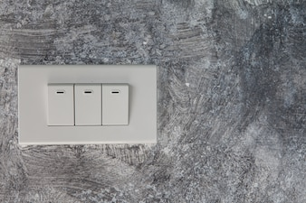 In the loft wall There are three white light switches buried.It is designed for convenient
