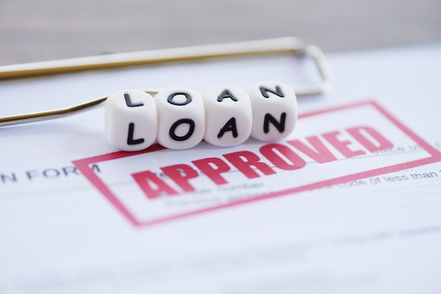 Inancial loan application form for lender and borrower for help investment bank estate