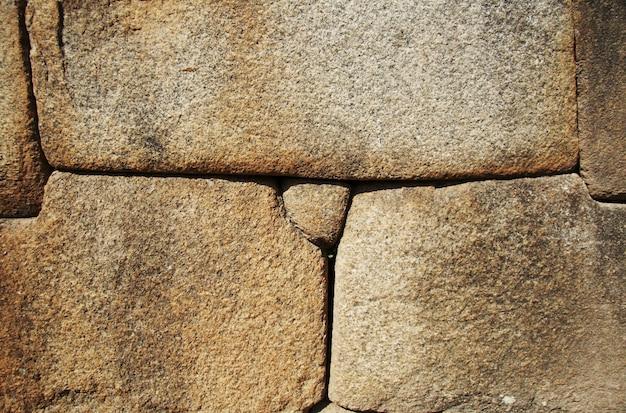 ペルー、マチュピチュ市のインカの壁