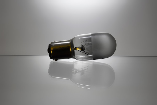 Incandescent light bulb with broken wolfram wire.