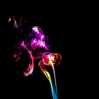 Incense science color abstract white