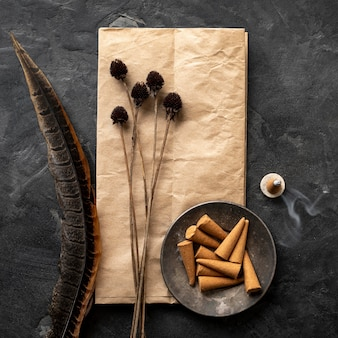 Incenses cones on paper